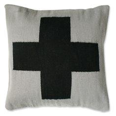 cross pillow by jonathan adler