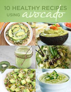 10 Healthy Recipes Using Avocado -- definitely want to try some of these, love avocado!  #superfood #avocado #recipes
