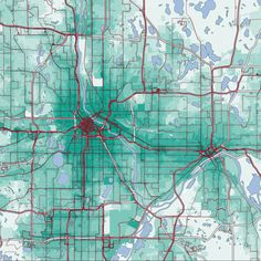 This Map Wants to Change How You Think About Your Commute - Emily Badger - The Atlantic Cities Economic Development, Atlantic City, Cartography, Badger, Thinking Of You, The Help, Maps, Cities, Restaurants