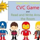 CVC Game for Fluency: Great for centers, independent work time, interventions, and small groups! The Read and Write the Room works really well for...