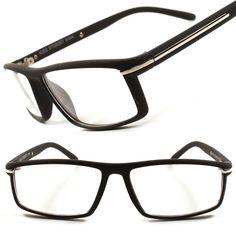 f0a93e68576 Stylish Black Clear Lens Eye Glasses Rectangular Frames Lenses Eye