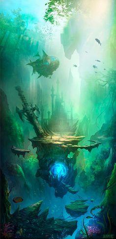 O ultimo reino dos tritoes Atlantida Local da batalha final pelo mar, onde Kritus defendeu com sua vida e preservou com sua alma. Nao existente para deuses e mortais, pois apenas os aliados do reino conseguem adentrar esse local sagrado