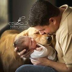 Dog & baby photography ideas