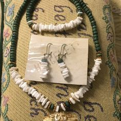 Vintage ;Authentic puka shells jewelries. Set of Hawaiian authentic puka shells and puka beads  necklace , earrings and bracelet . New w/o tag.it can fit all size. Jewelry Necklaces