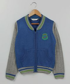 Take a look at this Blue & Green 'Sporty' Zip-Up Jacket - Infant, Toddler & Boys by Beebay on #zulily today!