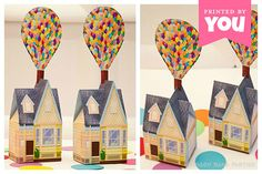 Balloon House Favor Box (Large) : DIY Printable UP Inspired House PDF - Instant Download on Etsy, $9.00