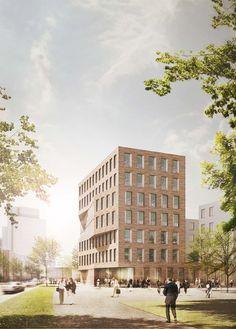 kister scheithauer gross architekten und stadtplaner --> 2nd Prize Gebäude 1 (Baufeld A) --> Wohnen am Klagesmarkt