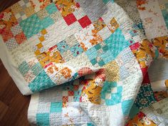A Beginner Quilt a long -- a simple patchwork. for my favorite prints that I'm having a tough time cutting up.