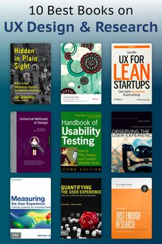 10 Best Books on UX Design & Research Best Design Books, Graphic Design Books, Book Design, Web Design Tips, Ux Design, Books To Buy, Read Books, Usability Testing, Principles Of Design