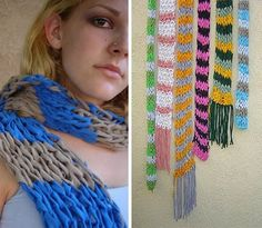 Knitted t-shirt scarf