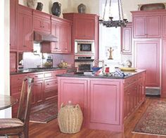 ideas shabby chic pink kitchen color palettes for 2019 Pink Kitchen Cabinets, Repainting Kitchen Cabinets, Red Cabinets, Kitchen Color Palettes, Kitchen Color Trends, Kitchen Colors, Shabby Chic Vintage, Shabby Chic Pink, Modern Kitchen Design
