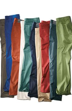 Different color men pants men's fashion Bright Colorful Bonobos men's for summer. I invested in every color green khaki copper blue navy a variety of colors Casual Wear, Casual Outfits, Men Casual, Business Attire For Men, Dressing Sense, Sharp Dressed Man, Dresscode, Mode Style, Swagg
