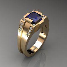 Ruby Diamond Rings, Sapphire Diamond, Black Diamond, White Diamonds, Mens Gold Rings, Rings For Men, Yellow Gold Rings, Rose Gold, Gold Ring Designs