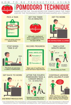 Pomodoro Technique - for amping up your productivity and time management and reducing stress about getting things done on your to do list. Study Skills, Study Tips, Life Skills, Study Methods, Study Habits, Leadership, Time Management Tips, Project Management, Time Management Techniques