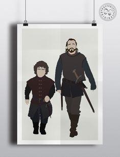 #minimalist #poster #posteritty #tv #minimalposter #original #print #GameofTrones #Bronn #Tyrion