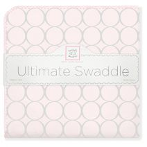 Flannel is where it is at this winter!  SwaddleDesigns Ultimate Swaddle Blanket - Sterling Mod Circles #MadeinAmerica #Sleep #Baby #Nursery