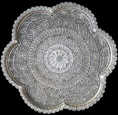 Silver Filigree Salver India, probably Cuttack, Orissa 19th century