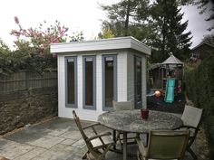 Mini Garden Office, perfect for the smaller garden, available in a variety of colours Small Garden Office, Backyard Office, Home Office Space, House Extensions, Art Studios, Bristol, Gazebo, Shed, Outdoor Structures