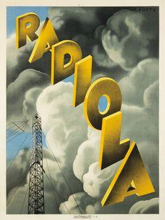 Radiola poster, 1929 (artwork by Max Ponty)