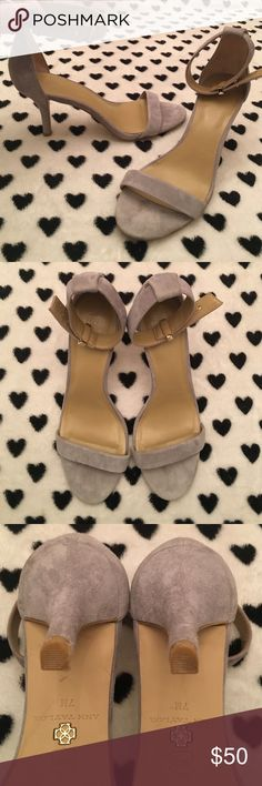 Ann Taylor Suede Heels Classy & Gorgeous, these are authentic gray Suede heels w/ gold hardware from Ann Taylor. Like new condition, will be cleaned before shipping. Make me an offer 😊 All are considered. Ann Taylor Shoes Heels