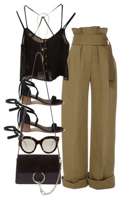 """""""Untitled #10373"""" by nikka-phillips ❤ liked on Polyvore featuring Rosie Assoulin, Victoria Beckham, Hollister Co., Chloé and Lacey Ryan"""