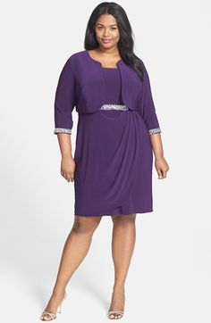 Alex Evenings Embellished Side Ruched Sheath Dress & Jacket (Plus Size) available at #Nordstrom