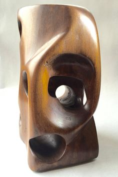 Mid Century Modern Biomorphic Wood Sculpture
