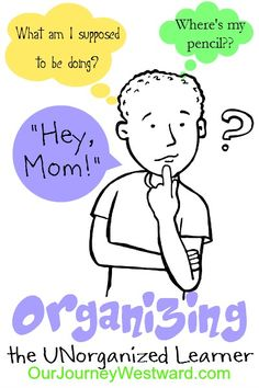Is your homeschooler unorganized? Here are several great tips for helping them to be more organized and more independent in their learning. I might need this in a few years.