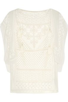 Isabel Marant Allen embroidered silk-georgette top | THE OUTNET