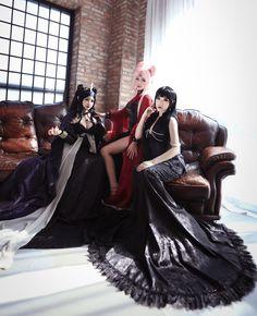 Gamyu(Gamyu) Black Lady, AeYul(AeYul) Nehellenia, mistress9 Cosplay Photo - WorldCosplay