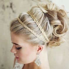 Wedding day hairstyle<3