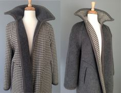 SALE // Vintage 60s Reversible Houndstooth by OffBroadwayVintage, $140.00