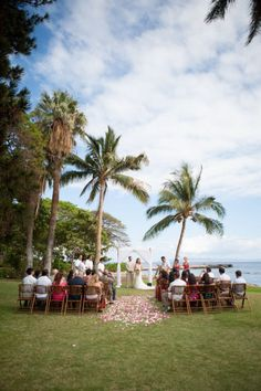 small wedding over looking the beach.. small, intimate, and romantic.