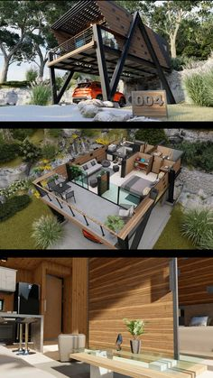 Building A Container Home, Container House Plans, Container House Design, Design Your Dream House, Small House Design, Modern Exterior House Designs, Modern House Design, House Construction Plan, Casas Containers