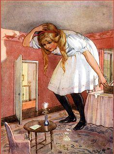 Alice in Wonderland Illustration by Margaret W Tarrant. @designerwallace