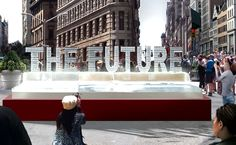 """For the People's Climate March, installation art team Ligorano and Reese will install a huge ice sculpture with the words """"The Future"""" in NYC ..."""