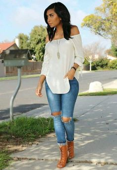 Classy outfits, everyday casual outfits, cute outfits with jeans, blue jean Everyday Casual Outfits, Classy Outfits, Trendy Outfits, Fashion Outfits, Fashion Trends, Fashion Ideas, Fall Winter Outfits, Spring Outfits, Look Fashion