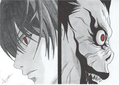 Light And Ryuk Death Note By by Traduzila on . Naruto Sketch Drawing, Anime Sketch, Manga Drawing, Art Drawings Sketches, Death Note デスノート, Death Note Fanart, Death Note Light, Death Note Quotes, Anime Character Drawing