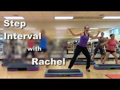 Step Interval with Rachel Step Aerobic Workout, Step Up Workout, Aerobics Workout, Hard Workout, Aerobic Exercises, Workout Gear, Workouts, Weight Loss Meals, Exercice Step