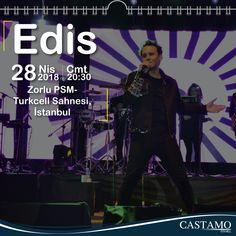 Castamo Ajanda öneriyor! Edis Konseri Yer:Zorlu PSM Turkcell Sahnesi Tarih:28 Nisan 2018 Cumartesi Saat:20:30 #edis #konser #etkinlik #zorlupsm #zorlu #muzik