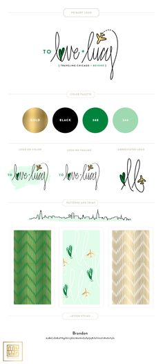 Emily McCarthy Branding Design | To Love and Lucy Branding Board