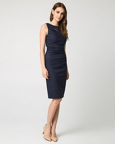 Day or night, look gorgeous in this navy dress this spring.