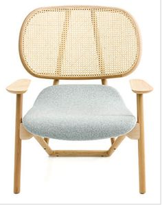 Patricia Urquiola Klara Armchair - Klara is a wooden armchair designed by Patricia Urquiola for Moroso. The design works on a simple, linear aesthetic that is harmonious in its curved yet essential shape. Patricia Urquiola, Canapé Design, Deco Design, Chair Design, Rattan, Cool Furniture, Furniture Design, Moroso Furniture, Furniture Chairs