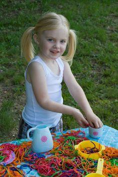 Sensory Spaghetti - Pasta Party  Toddler activity