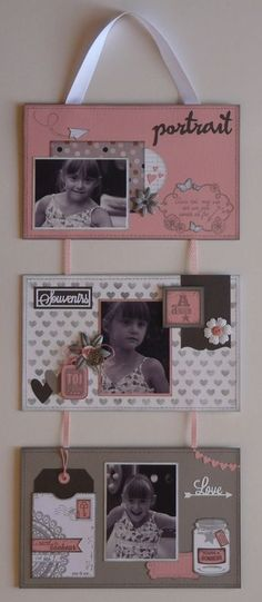 Photos Album - Excellent Ways For The Best From Your Photography Scrapbook Albums, Scrapbooking Layouts, Photo Frame Decoration, Picture Frame Hangers, Stampin Up, Mini Albums Scrap, Home Deco, Canvas Frame, Birthday Cards