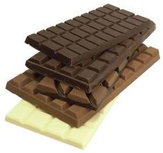 Los distintos tipos de barras de chocolate