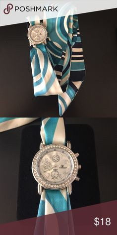 """Silk style tie watch Cue alternative to your everyday watch.   Measure 37"""" in length.   Needs a new battery.  More info or pics available upon request. Jewelry"""