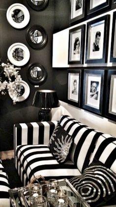 Black and white living room decor black and white home decor also with a black and . black and white living room decor White Home Decor, Black Decor, Goth Home Decor, Home Decor Trends, Home Decor Inspiration, Decor Ideas, 31 Ideas, Decorating Ideas, Interior Decorating