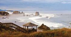 If you like quintessential beach towns, Bandon is your place. Come for the incredible ocean vistas, charming stores and restaurants, historic lighthouse Oregon Beaches, Oregon Coast, Oregon Swimming, Coos Bay, Travel Destinations Beach, Beach Town, Covered Bridges, Small Towns, Places To Visit