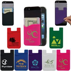 Cell Phone Card Holders | Trade Show Giveaways | 1.08 Ea. Cell Phone Deals, Cell Phone Hacks, Cell Phone Card Holder, Credit Card Wallet, Credit Cards, Trade Show Giveaways, Advertise Your Business, Cell Phones For Seniors, Buy Cell Phones Online